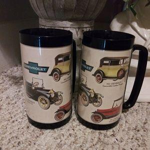 EUC Vintage Thermo-Serv Chevrolet Car Mugs